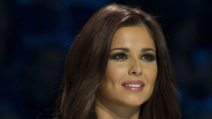 Cheryl Cole Smiling Pink Lips Face Closeup