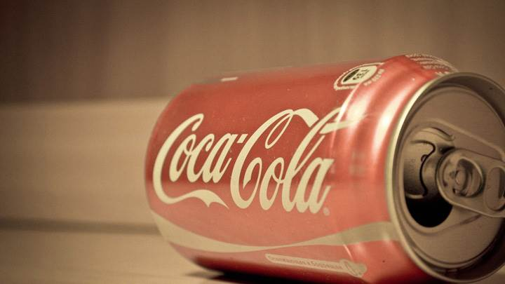 Coca Cola Can Closeup