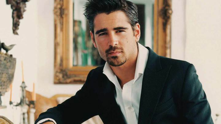 Colin Farrell Smart Looking At Camera In Black Coat