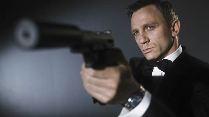 Daniel Craig As A James Bond Gun In Hand Photoshoot