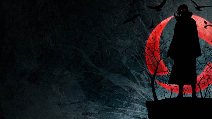 Dark Shadow With Red Eyes Wallpaper