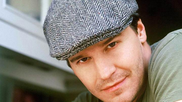David Boreanaz Wearing Black N White Cap Face Closeup