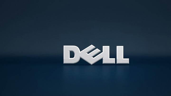 Dell Logo On Blue Background