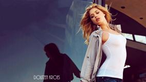 Doutzen Kroes In White Top N Jeans Closed Eyes Photoshoot