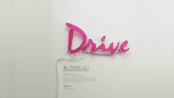 Drive Logo In Pink On White Background