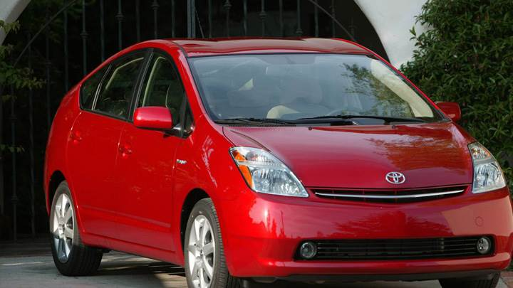 Front Pose Of 2008 Toyota Prius Touring Edition In Red