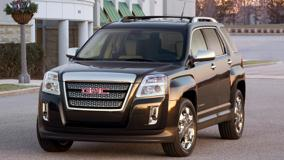 Front Pose Of 2010 GMC Terrain SLT In Black