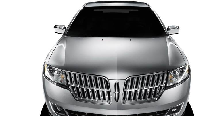 2010 Lincoln MKZ In Black Near Mountains