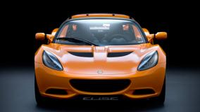 Front Pose Of 2011 Lotus Elise In Orange
