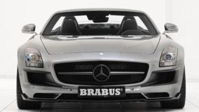 Front Pose Of Brabus Mercedes-Benz SLS AMG Roadster