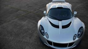 Front Pose Of Hennessey Venom GT 2011 In Silver