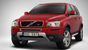 Front Side Pose Of 2009 Volvo XC90 In Red