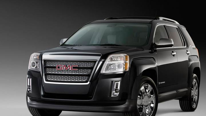 GMC Terrain SLT 2010 In Black Front Pose