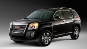 GMC Terrain SLT 2010 In Black Side Pose