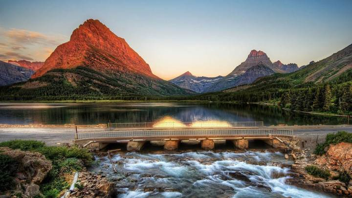 Glacier National Park Bridge Picture
