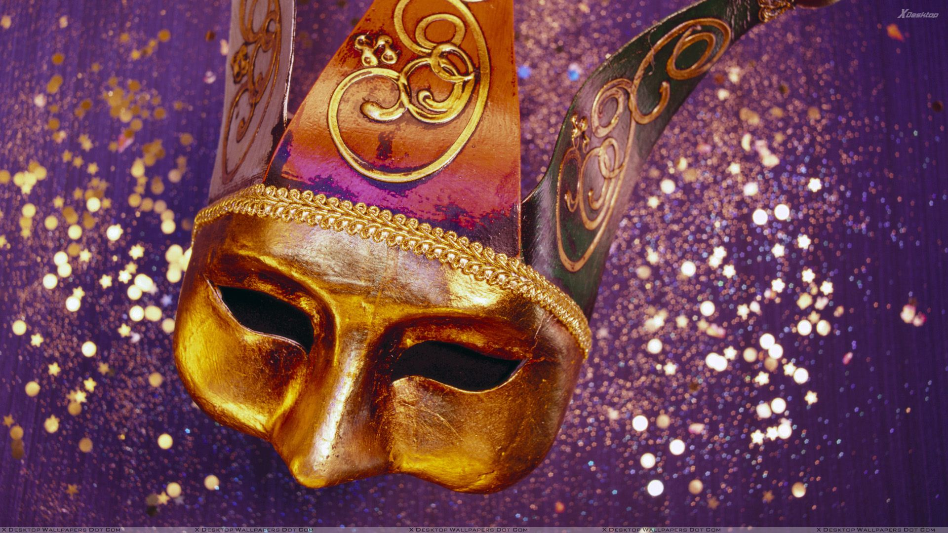 Golden Half Mask Closeup