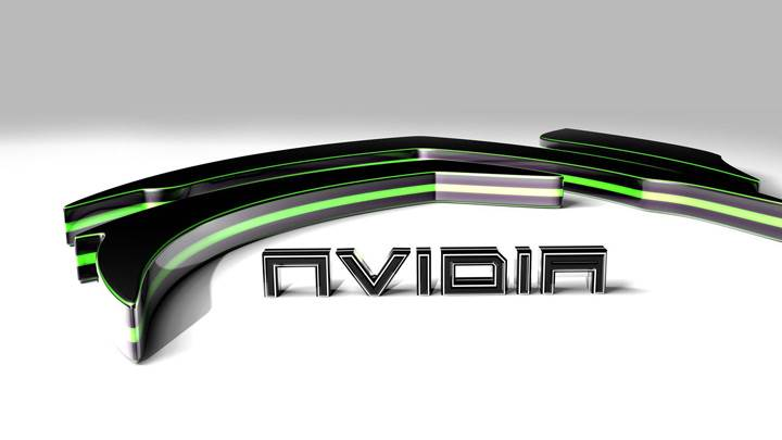 Green Nvidia 3d On White Background