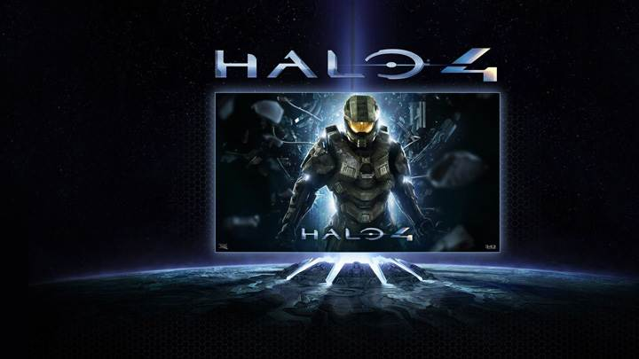 Halo 4 Game Black Background