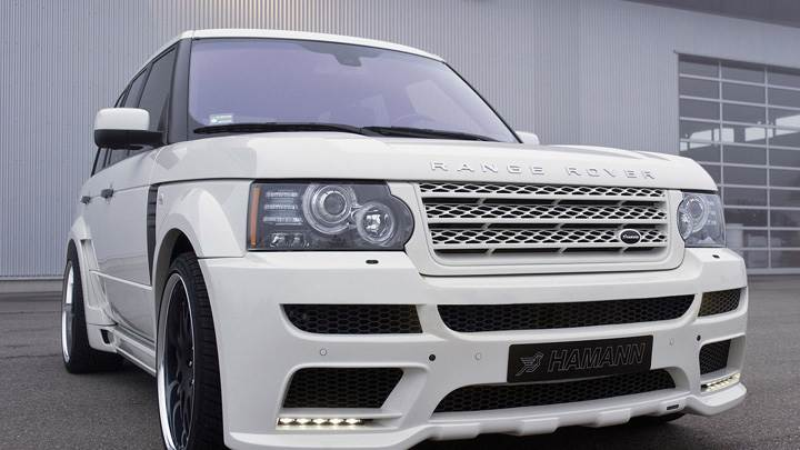 Hamann Range Rover 5.0i V8 Supercharged In White Front Pose