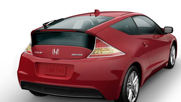 Honda CR-Z Sport Hybrid Coupe 2011 Back Side Pose In Red