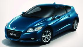 Honda CR-Z Sport Hybrid Coupe 2011 In Blue Front Side Pose
