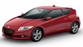 Honda CR-Z Sport Hybrid Coupe 2011 In Red N White Background
