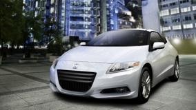Honda CR-Z Sport Hybrid Coupe 2011 In White Front Pose
