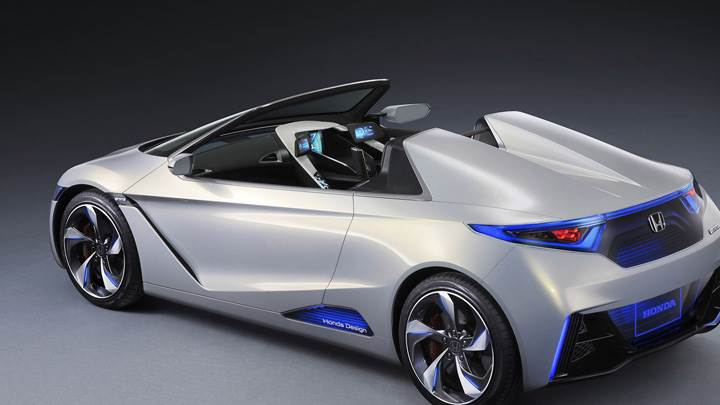 Honda EV-STER Concept Side Pose In Silver