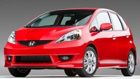 Honda Fit Sport 2009 Front Pose In Red