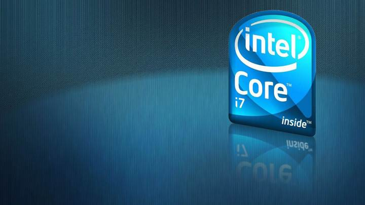 Intel Core i7 Logo And Blue Background
