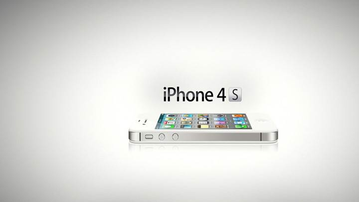 iPhone 4S And White Background