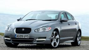 Jaguar XF 2011 In Grey Near Moutains
