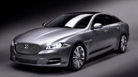 Jaguar XJ Side Pose In Grey
