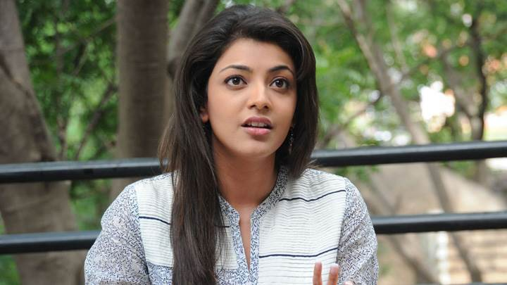 Kajal Aggarwal In White Dress Talking Photoshoot