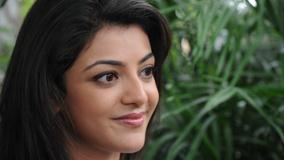 Kajal Aggarwal Pink Lips Cute Face Closeup