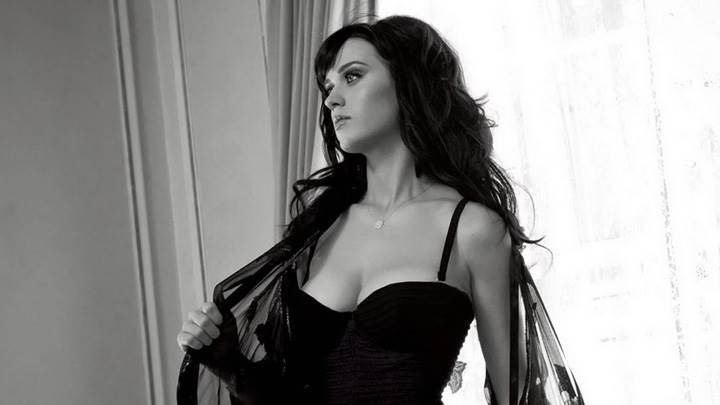 Katy Perry Black N White Front Photoshoot