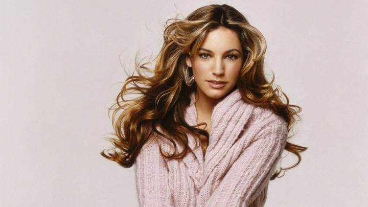 Kelly Brook Sitting In Woolen Dress Photoshoot