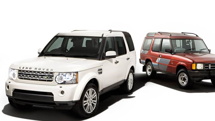 Land Rover Discovery 2010 White Vs Red