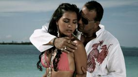 Lara Dutta In Bikini With Sanjay Dutt