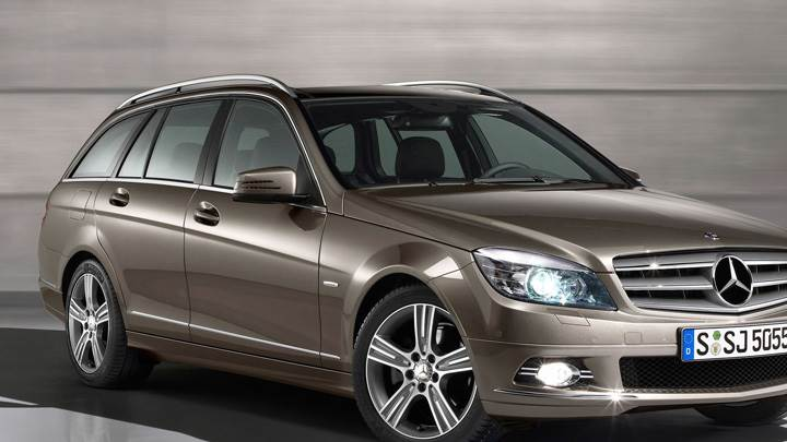 Mercedes-Benz C Class Special Edition Side Front Pose In Brown
