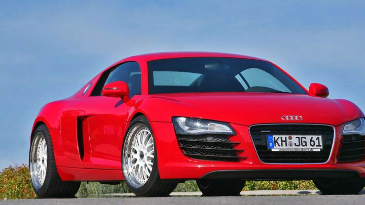Mfk Autosport Audi R8 Front Side Pose In Red Color