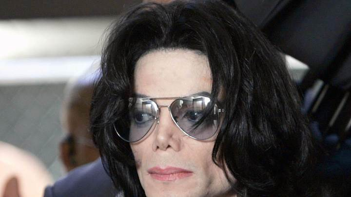 Michael Jackson In Long Black Hairs Face Closeup