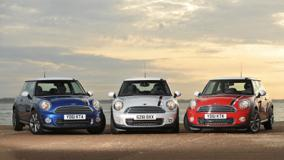 Mini London 2012 Edition In Blue, White N Red Near Sea Side