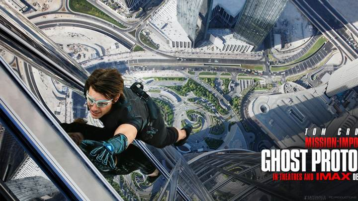 Mission Impossible Ghost Protocol Hanging Outside Building