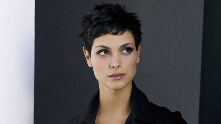 Morena Baccarin Looking Side In Black Coat Photoshoot