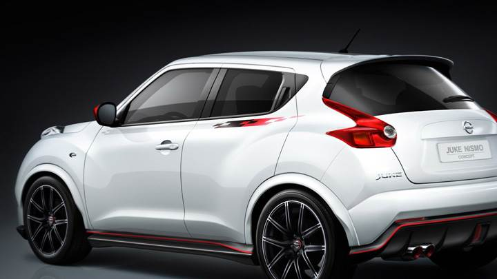 Nissan Juke Nismo Concept Back Side Pose In White