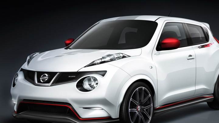 Nissan Juke Nismo Concept In White Front Side Pose