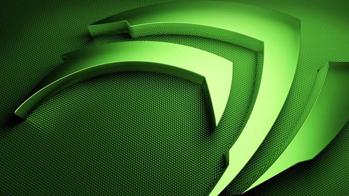 Nvidia Green 3d Logo On Green Background
