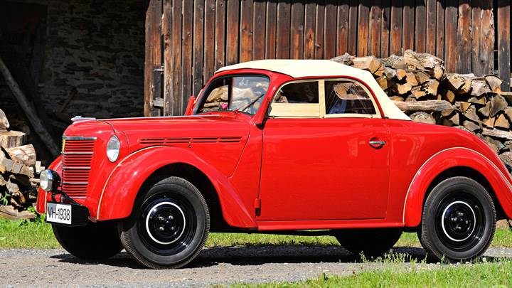 Opel Kadett Roadster 1938 In Red Side Pose