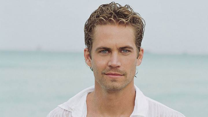 Paul Walker At Sea Side In White Shirt